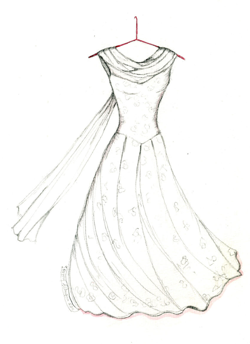 Drawn wedding dress party dress Pages Pages Wedding Dress Pages