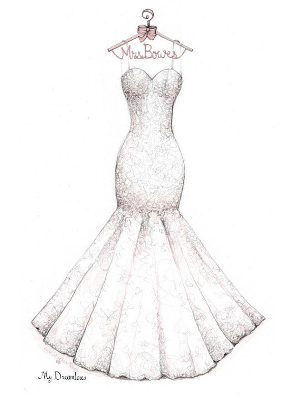 Drawn wedding dress party dress From gift 25+ Dress on