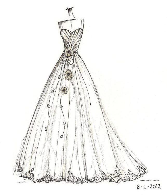 Drawn wedding dress party dress Uk mermaid wedding www on