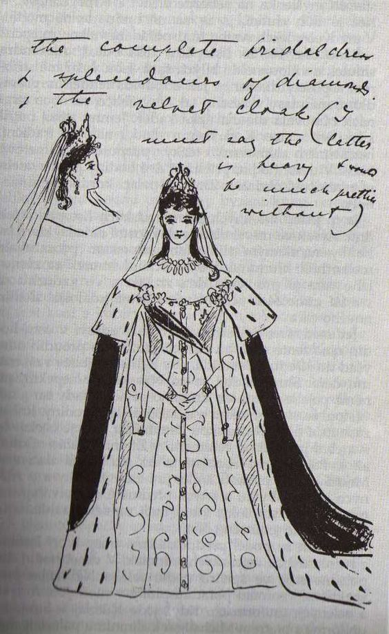 Drawn wedding dress queen By Victoria Ella described wedding