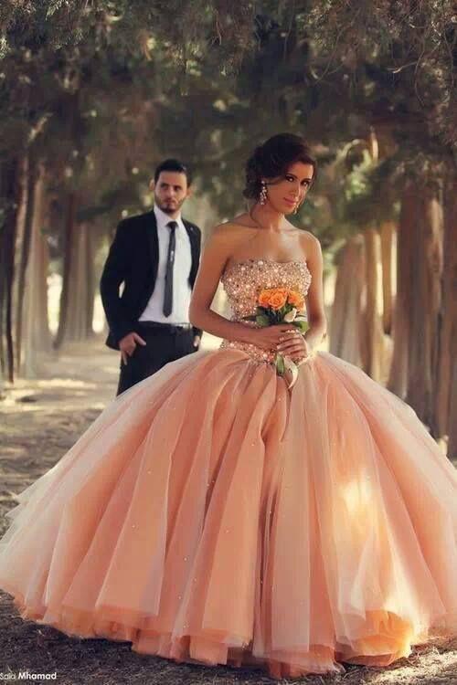Wedding Dress clipart quinceanera dress Wedding fashion wedding 25+ Peach