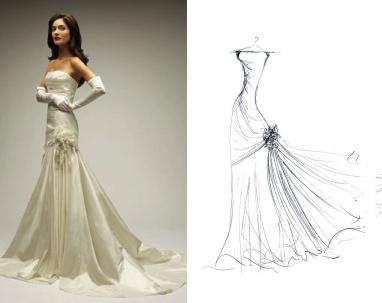 Drawn wedding dress really #15