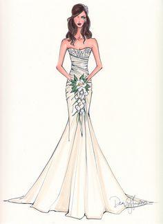 Drawn wedding dress really Sketch wedding sketch Wedding