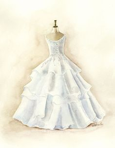 Drawn wedding dress really #11
