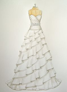 Drawn wedding dress really Forever! Gifts Wife  this