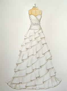 Drawn wedding dress really #13
