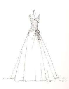Drawn wedding dress really #9