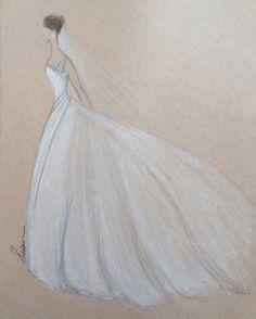 Drawn wedding dress really #7
