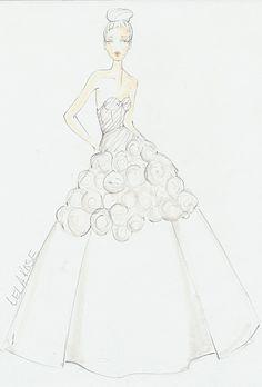 Drawn wedding dress simple #14