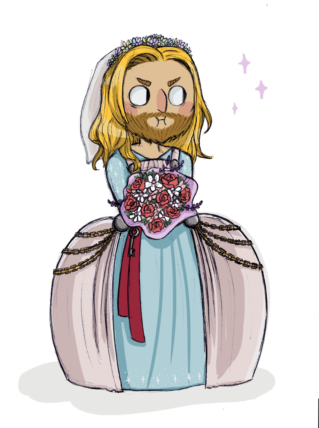 Drawn wedding dress thor And BUT I I story