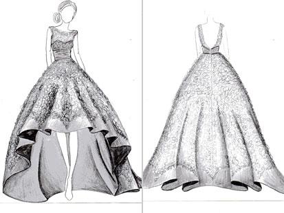 Drawn wedding dress vintage dress Winner: Dress the Bride's Wedding