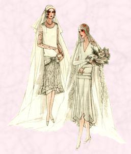Drawn wedding dress vintage dress 1920s Photos Dresses Wedding Bridal