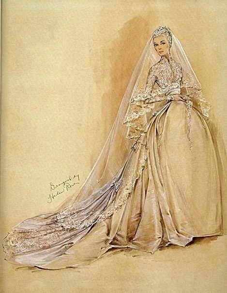 Drawn wedding dress vintage dress Designer dress Helen best by
