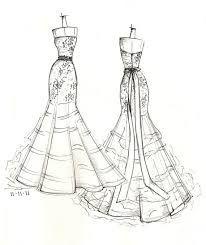 Drawn wedding dress vintage dress Result sketch card prom prom