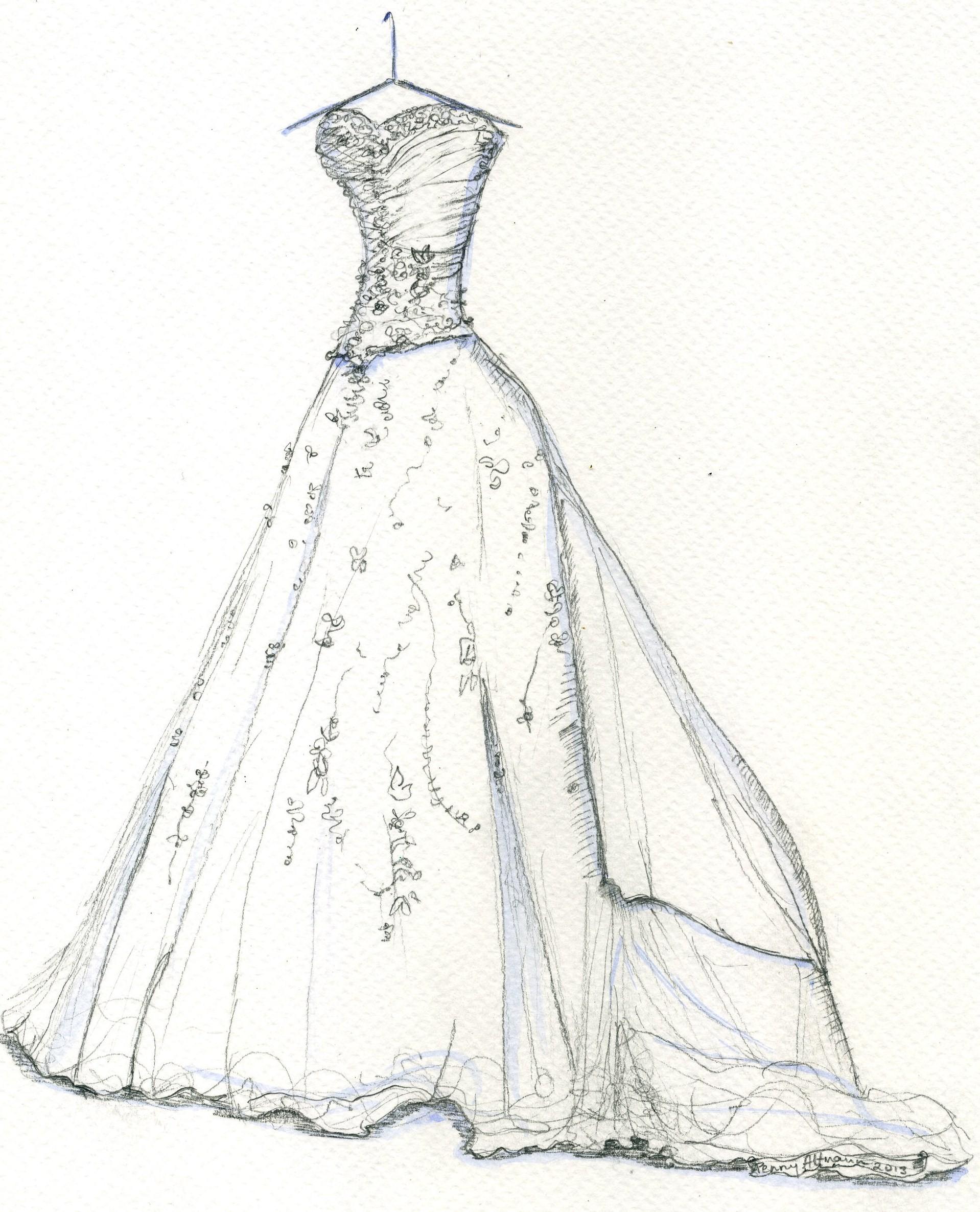 Drawn wedding dress vintage dress Sketches Dress Junoir Sketches Wedding