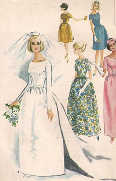 Drawn wedding dress vintage bride Pin vintage (edwige0574) Pinterest on