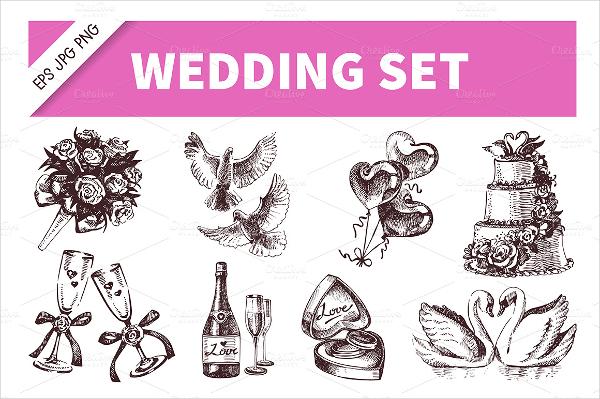 Drawn wedding vintage icon Icons 18+ Wedding Icon AI