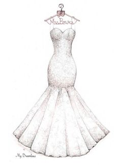Drawn wedding dress really #1