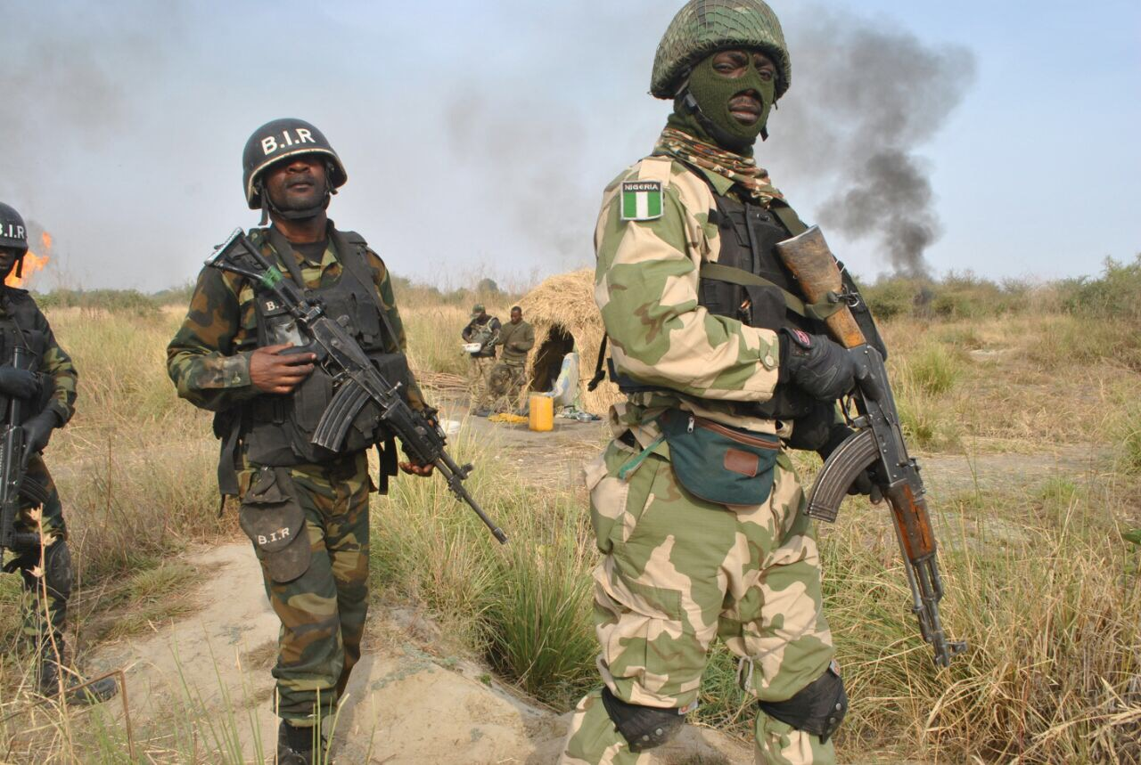 Drawn weed army CAMEROONIAN JOINT Nigerian TROOPS CONDUCT