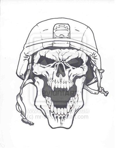 Drawn skull designer Cool ARMY drawings  army