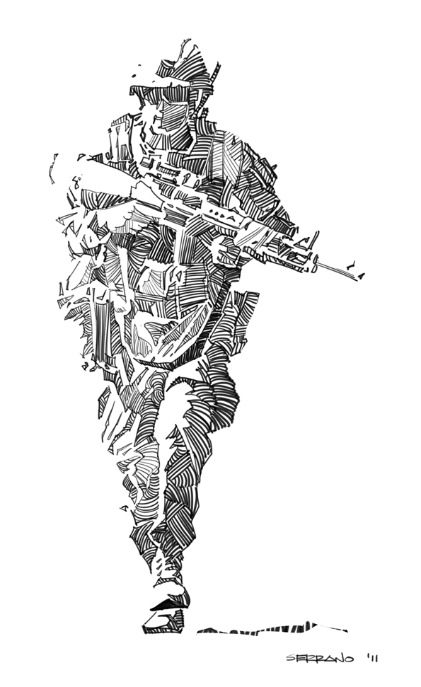 Drawn weed army Female soldier Drawing Armand Army
