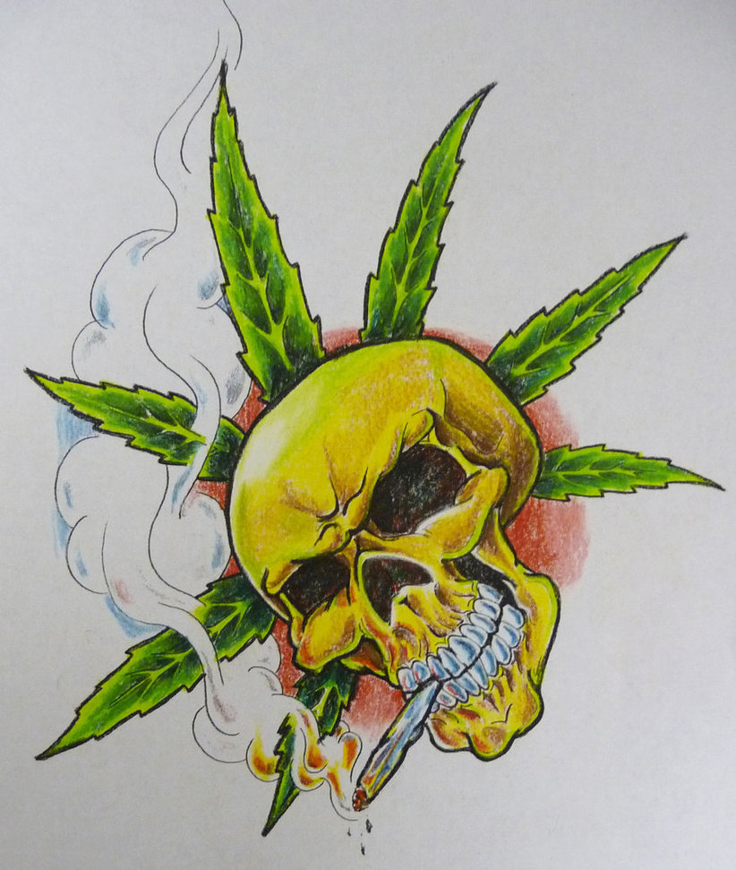 Drawn pot plant skull Skull mortes (822×971) jpg