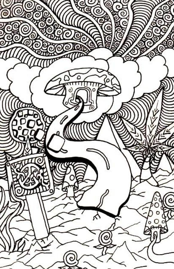 Mushroom clipart trippy #13