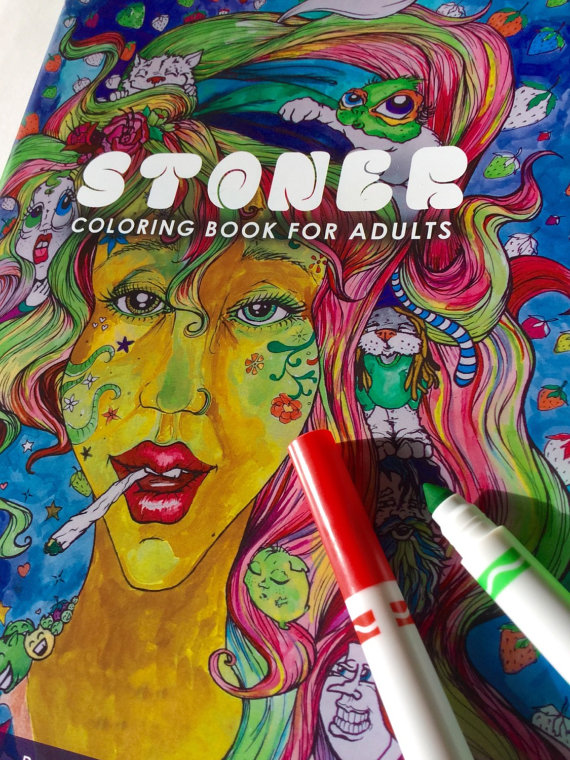 Drawn weed creative Gift Adults coloring weed Coloring
