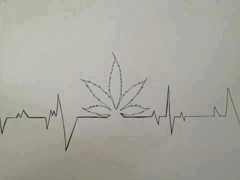 Drawn weed creative Weed Girl Pinterest  drawing