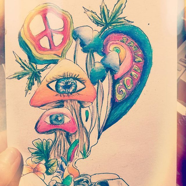 Drawn weed creative On #hippy Hippie 25+ #weed