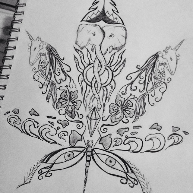 Drawn weed doodle Art Instagram #creative #weed profile