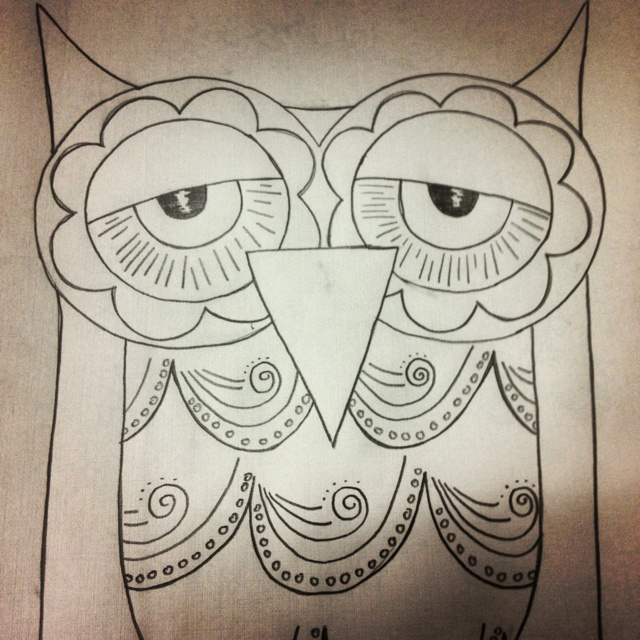 Drawn weed doodle Owl Drawing about Cute Such
