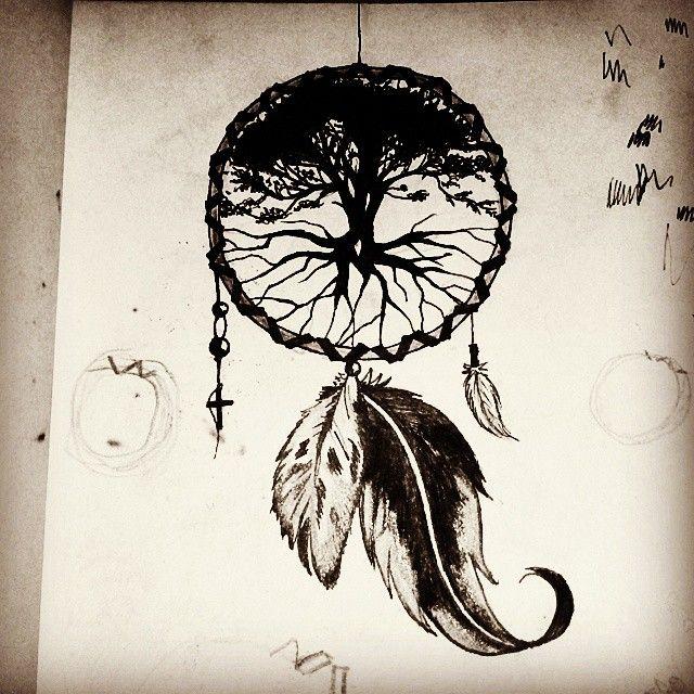 Drawn pot plant dreamcatcher Google dreamcatcher celtic Search tree