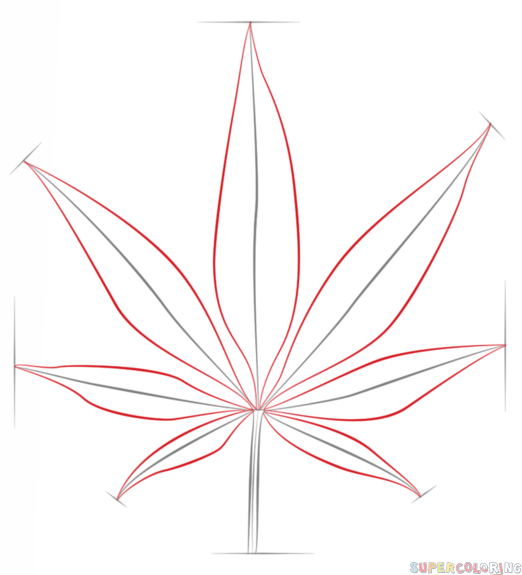 Drawn weed easy To Drawing 3 a Step