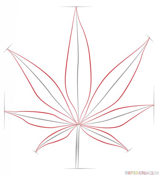 Drawn weed easy Draw to step potleaf tutorials