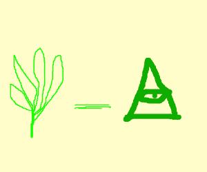 Drawn weed illuminati = by illuminati Weed (drawing