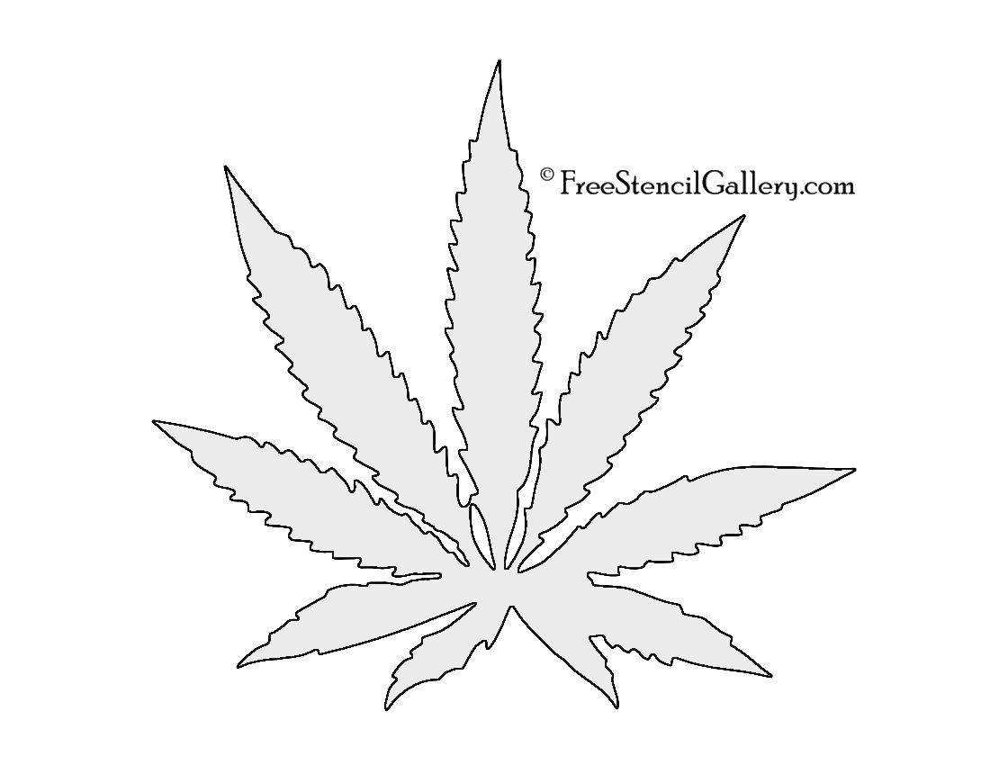Drawn pot plant leaf stencil Leaf Free Leaf Cannabis Gallery