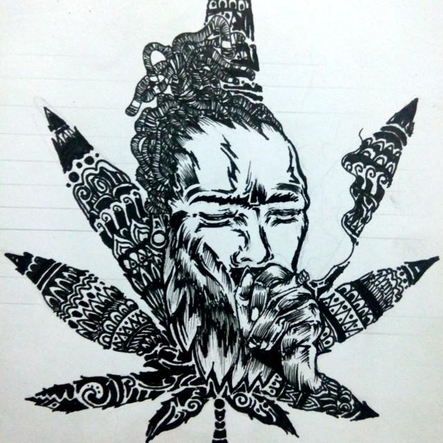 Drawn weed mary jane #maryjane #artwork #illustration #illustration #pen