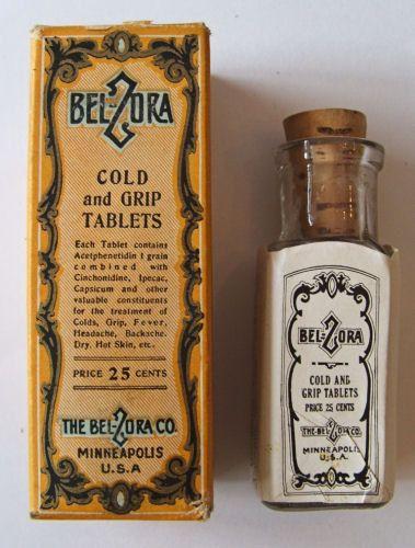 Drawn weed medicine bottle BELZORA w/label corked images Cold