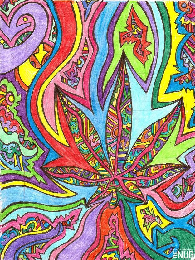 Drawn weed nug Art Nug Art The Pot
