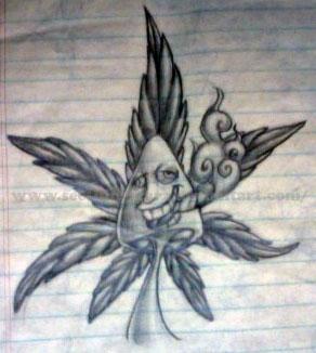 Drawn pot plant weed smoke DeviantArt by Shroomie potleaf brittymon37