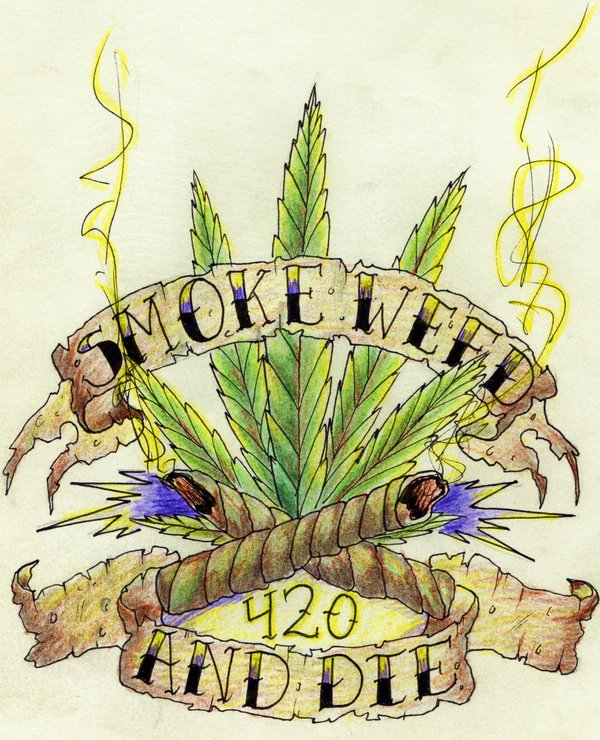 Drawn pot plant character By drawing weed die San