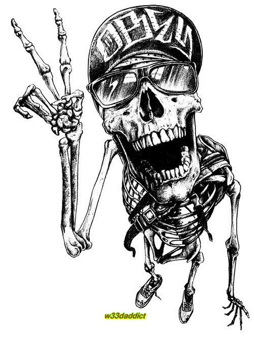 Drawn ssckull skeleton Images about #Skeletons BoneHead #w33daddict