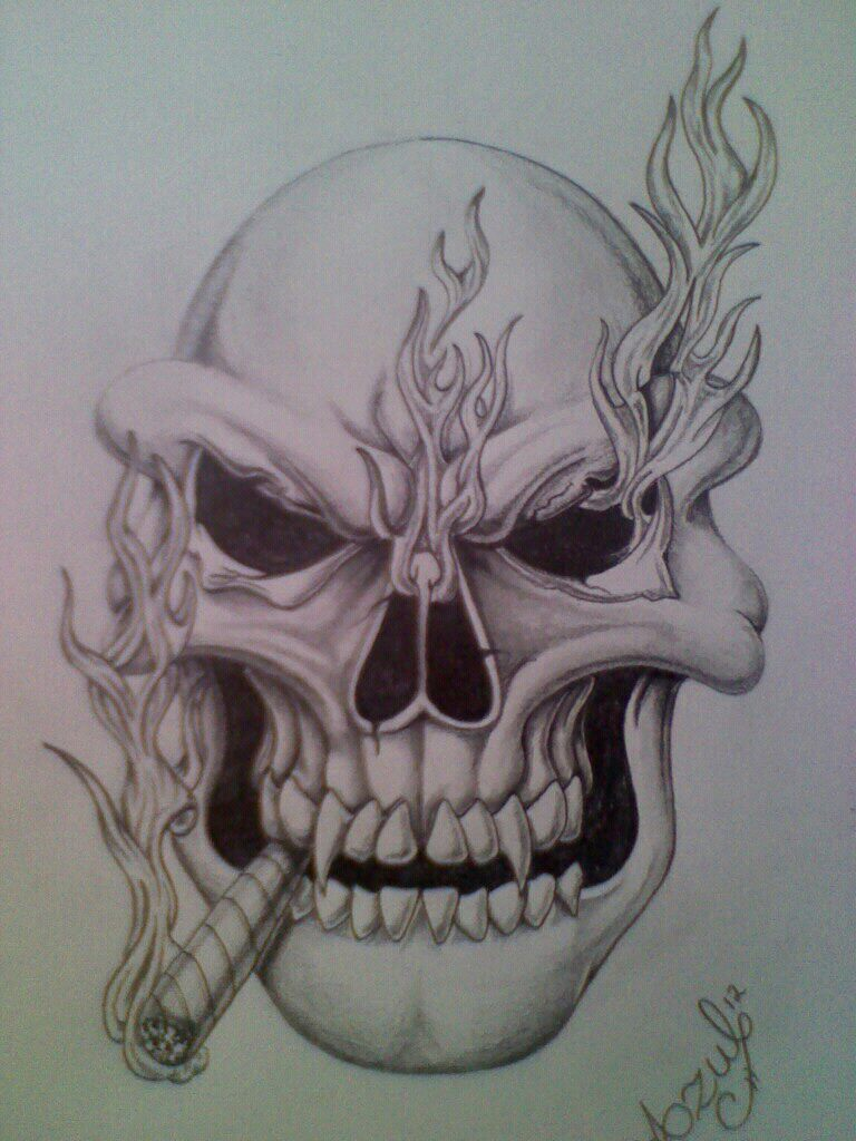 Drawn pot plant skull Tattoo jpeg 957  weed