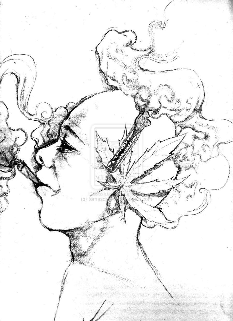 Drawn weed smoke drawing Drawings Weed Drawings Wee Draw