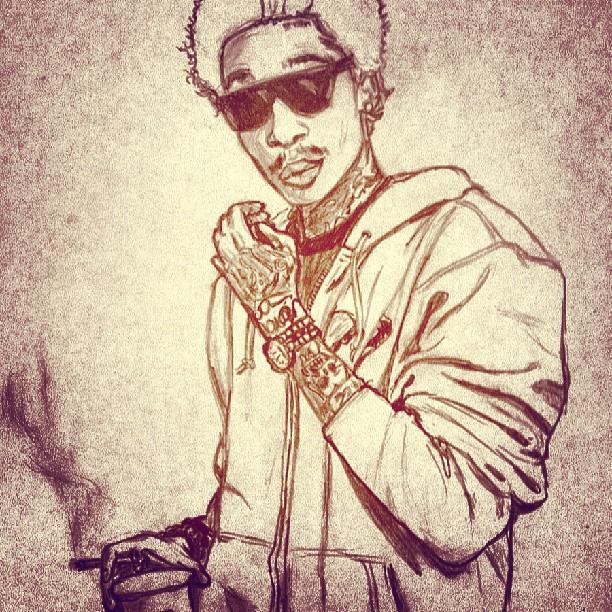 Drawn weed smoke drawing Weed #wizkhalifa #khalifa on #pencil