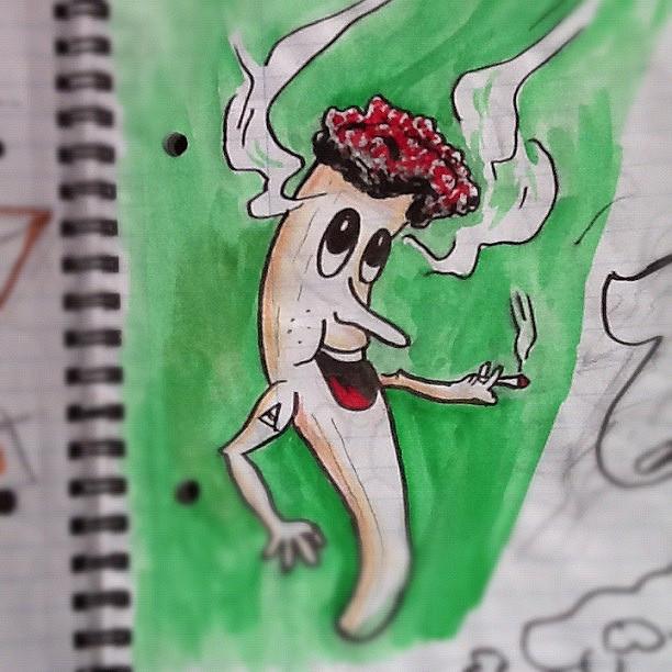 Drawn weed smoke drawing Flickr #illus… Smoke #ink #sketch