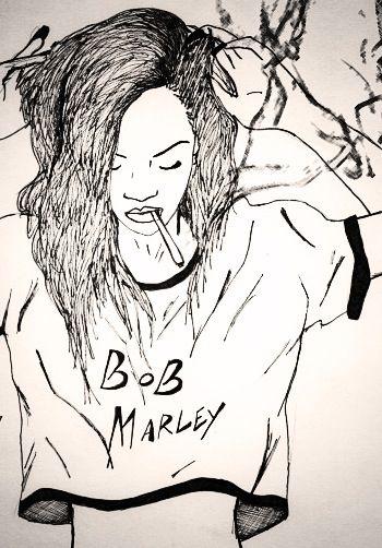 Drawn weed smoke drawing Herb images best Marley Bob