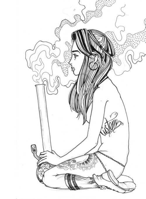 Drawn weed stoner chick Find this 100 MaryJane about