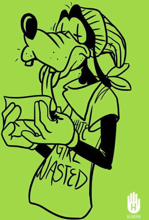 Drawn weed stoner chick Looky's Smoke Looky's ArtWeed Hoodie